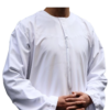 iShukr Omani Round neck Jubbah - White